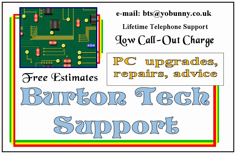 Burton Tech Support home page